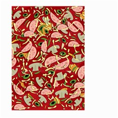 Pizza Pattern Large Garden Flag (two Sides) by Valentinaart