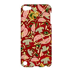 Pizza Pattern Apple Ipod Touch 5 Hardshell Case by Valentinaart