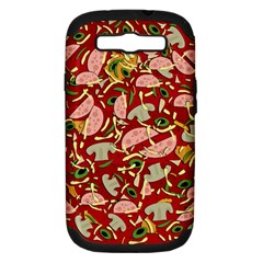 Pizza Pattern Samsung Galaxy S Iii Hardshell Case (pc+silicone) by Valentinaart