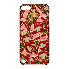 Pizza Pattern Apple Ipod Touch 5 Hardshell Case With Stand by Valentinaart