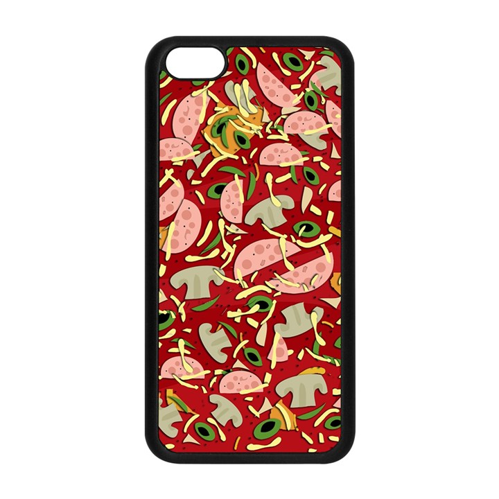 Pizza pattern Apple iPhone 5C Seamless Case (Black)