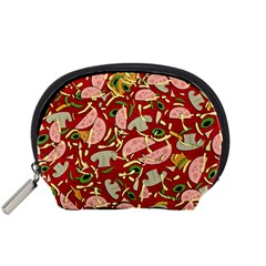 Pizza Pattern Accessory Pouches (small)  by Valentinaart