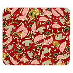 Pizza Pattern Double Sided Flano Blanket (small)  by Valentinaart