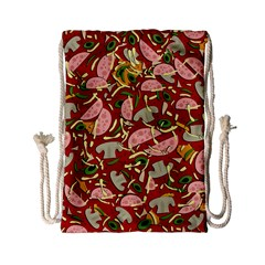 Pizza Pattern Drawstring Bag (small) by Valentinaart