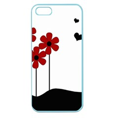 Flowers Apple Seamless Iphone 5 Case (color) by Valentinaart