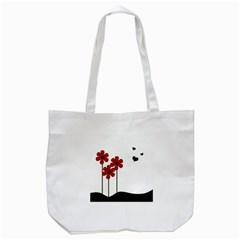 Flowers Tote Bag (white) by Valentinaart