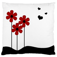Flowers Standard Flano Cushion Case (one Side) by Valentinaart