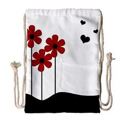 Flowers Drawstring Bag (large) by Valentinaart