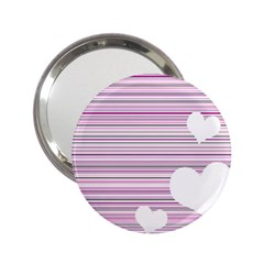 Pink Valentines Day Design 2 25  Handbag Mirrors by Valentinaart