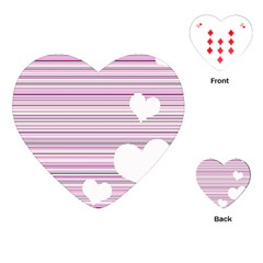 Pink Valentines Day Design Playing Cards (heart)  by Valentinaart
