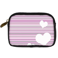 Pink Valentines Day Design Digital Camera Cases by Valentinaart