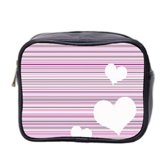 Pink Valentines Day Design Mini Toiletries Bag 2 Side by Valentinaart