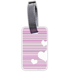 Pink Valentines Day Design Luggage Tags (one Side)  by Valentinaart
