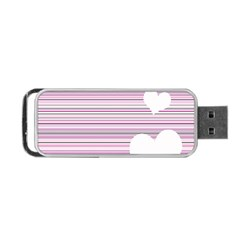 Pink Valentines Day Design Portable Usb Flash (two Sides)