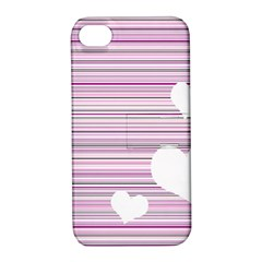 Pink Valentines Day Design Apple Iphone 4/4s Hardshell Case With Stand