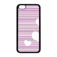 Pink Valentines Day Design Apple Iphone 5c Seamless Case (black) by Valentinaart