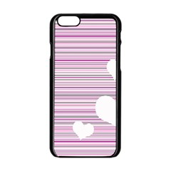 Pink Valentines Day Design Apple Iphone 6/6s Black Enamel Case
