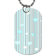 Cyan Love Dog Tag (two Sides) by Valentinaart
