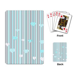 Cyan Love Playing Card