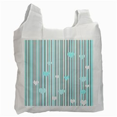 Cyan Love Recycle Bag (two Side)