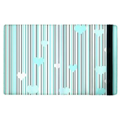 Cyan Love Apple Ipad 3/4 Flip Case by Valentinaart
