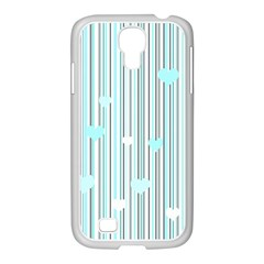Cyan Love Samsung Galaxy S4 I9500/ I9505 Case (white) by Valentinaart