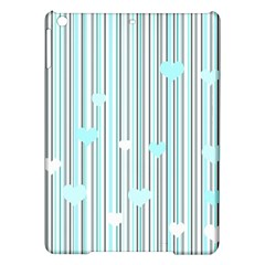 Cyan Love Ipad Air Hardshell Cases by Valentinaart
