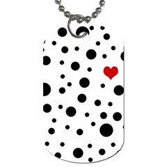 Dots And Hart Dog Tag (two Sides) by Valentinaart
