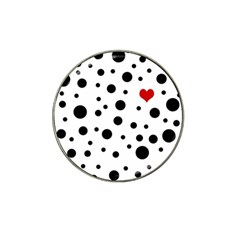 Dots And Hart Hat Clip Ball Marker by Valentinaart