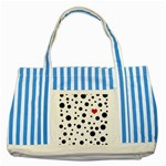 Dots and hart Striped Blue Tote Bag Front