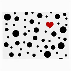 Dots And Hart Large Glasses Cloth by Valentinaart
