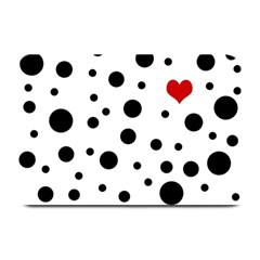 Dots And Hart Plate Mats by Valentinaart