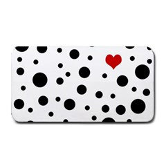 Dots And Hart Medium Bar Mats by Valentinaart