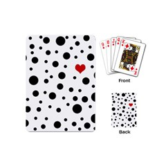 Dots And Hart Playing Cards (mini)  by Valentinaart