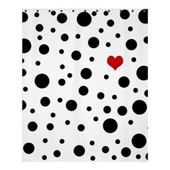 Dots And Hart Shower Curtain 60  X 72  (medium)