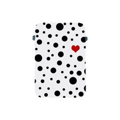 Dots And Hart Apple Ipad Mini Protective Soft Cases by Valentinaart