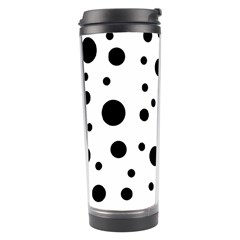 Dots And Hart Travel Tumbler by Valentinaart