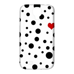 Dots And Hart Samsung Galaxy S4 Classic Hardshell Case (pc+silicone) by Valentinaart