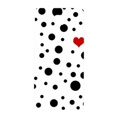 Dots And Hart Samsung Galaxy Alpha Hardshell Back Case by Valentinaart