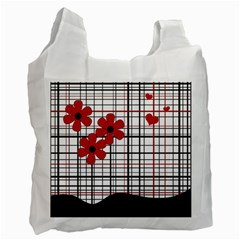 Cute Floral Desing Recycle Bag (two Side)  by Valentinaart