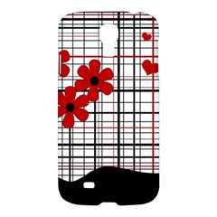 Cute Floral Desing Samsung Galaxy S4 I9500/i9505 Hardshell Case by Valentinaart