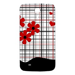 Cute Floral Desing Samsung Galaxy Mega I9200 Hardshell Back Case by Valentinaart