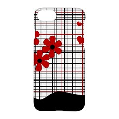 Cute Floral Desing Apple Iphone 7 Hardshell Case by Valentinaart