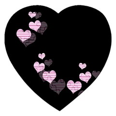 Pink Harts Design Jigsaw Puzzle (heart) by Valentinaart