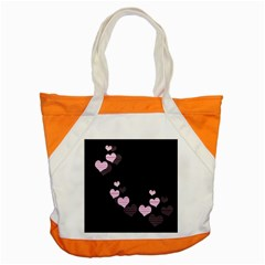 Pink Harts Design Accent Tote Bag by Valentinaart
