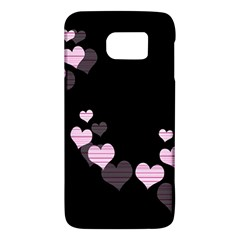 Pink Harts Design Galaxy S6 by Valentinaart