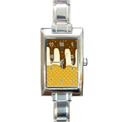 Ice Cream Zoom Rectangle Italian Charm Watch by Valentinaart