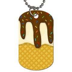 Ice Cream Zoom Dog Tag (one Side) by Valentinaart