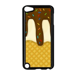 Ice Cream Zoom Apple Ipod Touch 5 Case (black) by Valentinaart