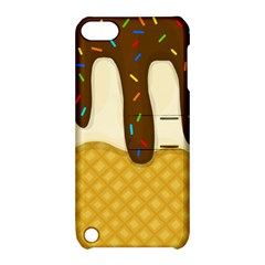 Ice Cream Zoom Apple Ipod Touch 5 Hardshell Case With Stand by Valentinaart